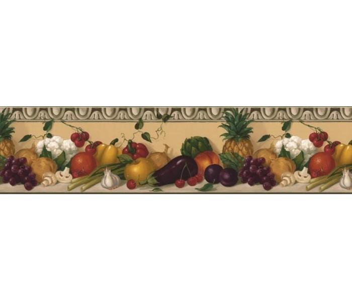 Garden Wallpaper Borders: Fruits and vegetables Wallpaper Border KL76991