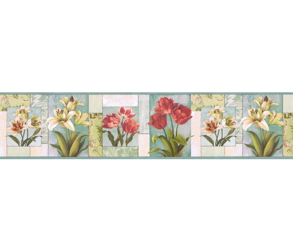 Clearance: Floral Wallpaper Border NS7704B