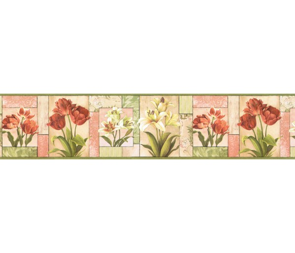Clearance: Floral Wallpaper Border NS7705B