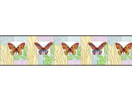 Prepasted Wallpaper Borders - Butterfly Wall Paper Border NS7710B