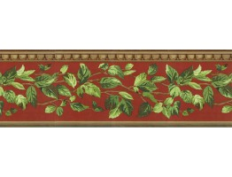 Prepasted Wallpaper Borders - Leafs Wall Paper Border NS7713B