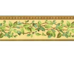 Prepasted Wallpaper Borders - Leafs Wall Paper Border NS7714B