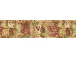 Prepasted Wallpaper Borders - Leafs Wall Paper Border NS7720B
