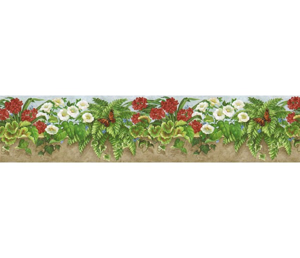 Clearance: Floral Wallpaper Border NS7723B