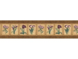 7 in x 15 ft Prepasted Wallpaper Borders - Floral Wall Paper Border AW77355