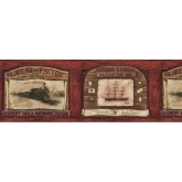 Prepasted Wallpaper Borders - Country Wall Paper Border AW77359