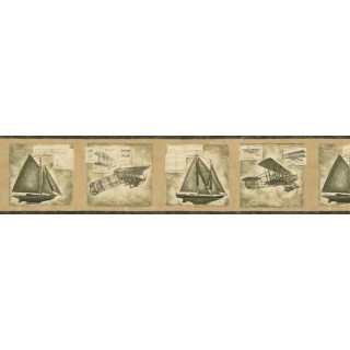 7 in x 15 ft Prepasted Wallpaper Borders - Vintage Wall Paper Border AW77365