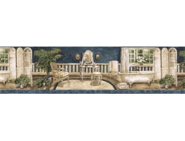 7 in x 15 ft Prepasted Wallpaper Borders - Contemporary Wall Paper Border AW77379