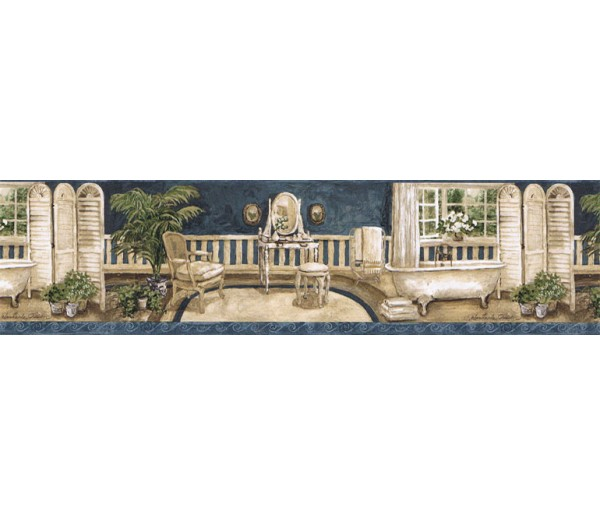Clearance: Contemporary Wallpaper Border AW77379