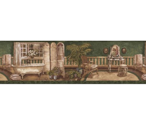 Clearance: Contemporary Wallpaper Border AW77380