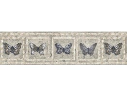 Prepasted Wallpaper Borders - Butterfly Wall Paper Border AW77383