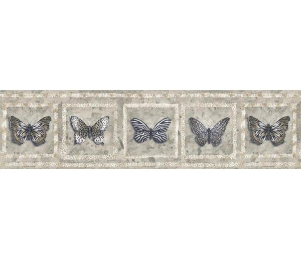 Clearance Butterfly Wallpaper Border AW77383