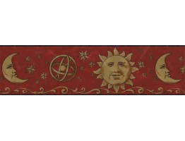 Prepasted Wallpaper Borders - Sun, Moon and Stars Wall Paper Border BW77430