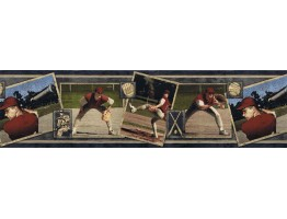 7 in x 15 ft Prepasted Wallpaper Borders - Sports Wall Paper Border BW77437
