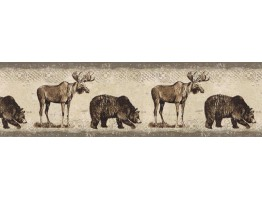 Prepasted Wallpaper Borders - Animals Wall Paper Border BW77447