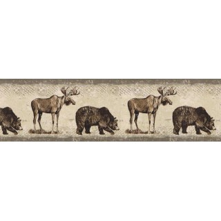 15 ft Prepasted Wallpaper Borders - Animals Wall Paper Border BW77447