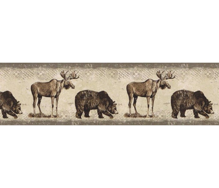Deer Moose Wallpaper Borders: Animals Wallpaper Border BW77447