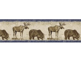 Prepasted Wallpaper Borders - Animals Wall Paper Border BW77448