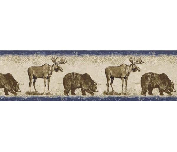 Deer Moose Animals Wallpaper Border BW77448 S.A.MAXWELL CO.