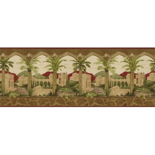 10 1/2 in x 15 ft Prepasted Wallpaper Borders - Country Wall Paper Border BW77449