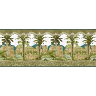 10 1/2 in x 15 ft Prepasted Wallpaper Borders - Country Wall Paper Border BW77450