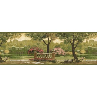 9 1/16 in x 15 ft Prepasted Wallpaper Borders - Country Wall Paper Border CH77632