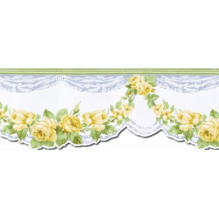 10 1/4 in x 15 ft Prepasted Wallpaper Borders - Roses Wall Paper Border CH77637DC