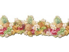 9 in x 15 ft Prepasted Wallpaper Borders - Fruits Wall Paper Border MK77681DC