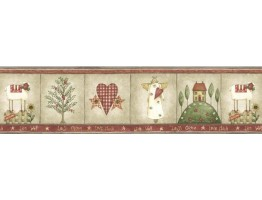 Prepasted Wallpaper Borders - Country Wall Paper Border BT77712