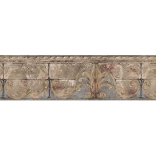 7 in x 15 ft Prepasted Wallpaper Borders - Vintage Wall Paper Border AR77965