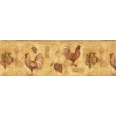 Roosters Wallpaper Borders: Roosters Wallpaper Border TK78253