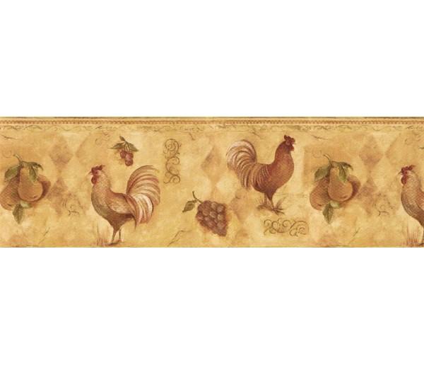 Roosters Wallpaper Borders: Roosters Wallpaper Border TK78253