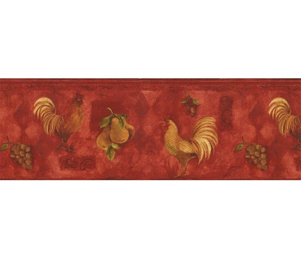 Clearance: Roosters Wallpaper Border TK78255A