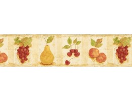 Prepasted Wallpaper Borders - Fruits Wall Paper Border TK78258