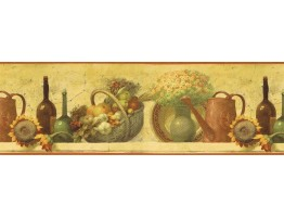 Prepasted Wallpaper Borders - Kitchen Wall Paper Border TK78270