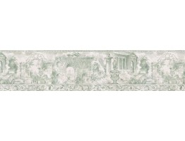 6 3/4 in x 15 ft Prepasted Wallpaper Borders - Contemporary Wall Paper Border b78714
