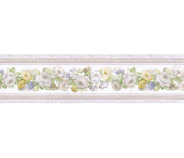 Clearance: Floral Wallpaper Border 79106