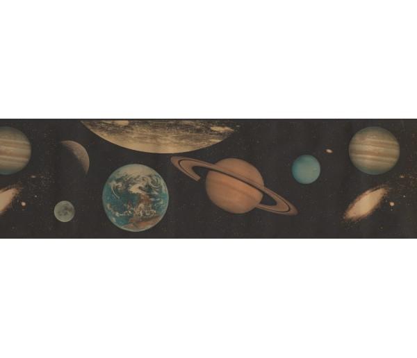Sun Moon Stars Borders Planets Wallpaper Border GU79212A S.A.MAXWELL CO.