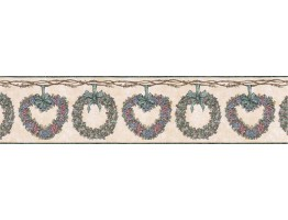 Floral Wallpaper Border CJ80010B