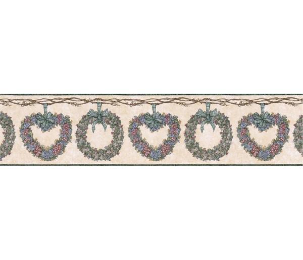Prepasted Wallpaper Borders - Floral Wall Paper Border CJ80010B