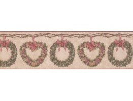 Prepasted Wallpaper Borders - Floral Wall Paper Border CJ80011B