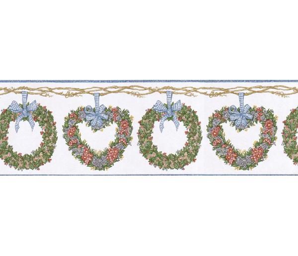 Prepasted Wallpaper Borders - Floral Wall Paper Border CJ80012B
