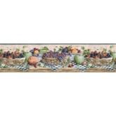 Garden Wallpaper Borders: Fruits Wallpaper Border CJ80022B