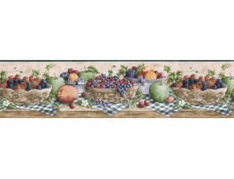 Prepasted Wallpaper Borders - Fruits Wall Paper Border CJ80022B
