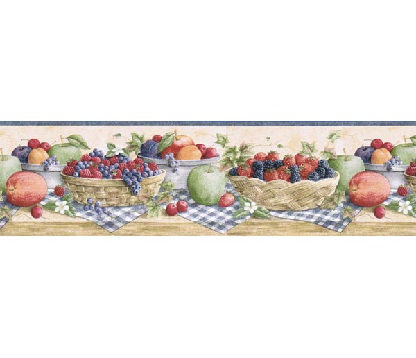 Garden Borders Fruits Wallpaper Border CJ80023B Chesapeake Wallcoverings