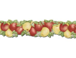 Prepasted Wallpaper Borders - Fruits Wall Paper Border CJ80027DB