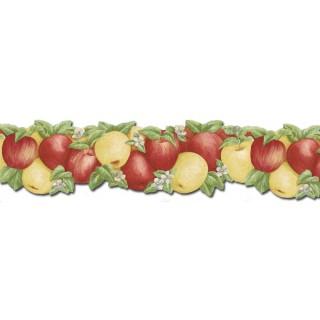 6 1/2 in x 15 ft Prepasted Wallpaper Borders - Fruits Wall Paper Border CJ80027DB