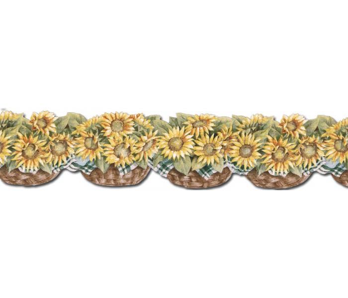 Clearance: Sunflowers Wallpaper Border CJ80028DB