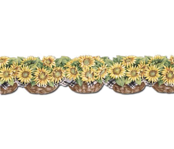 Clearance: Sunflowers Wallpaper Border CJ80029DB