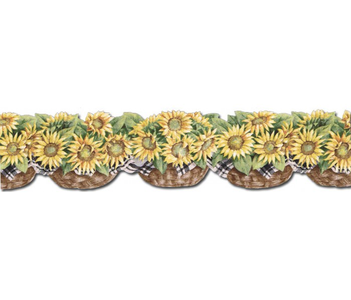 Clearance: Sunflowers Wallpaper Border CJ80029DB